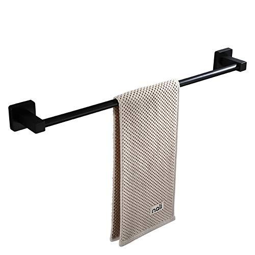 ARKZE Punch-Free Nordische Retro Handtuchhalter,Verlängert Einpolige Schwarze Handtuch-bar Edelstahl Badezimmer Handtuchstange hängen Einlagige 100% Hohe Qualität,100CM