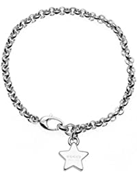 GUCCI Bracelet Trademark With 3 Star Pendant Silver YBA356212001018