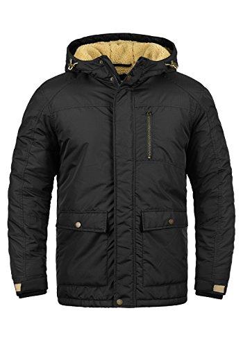 REDEFINED REBEL Maher Herren Winterjacke Teddy-Jacke mit Kapuze aus hochwertiger Materialqualität, Größe:M, Farbe:Black