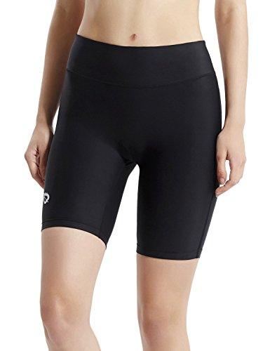"""Baleaf Women's 7"""" Compression Bike Fitness Running Shorts Back Pocket for 4"""", 4.7"""" Mobile Phone Test"""