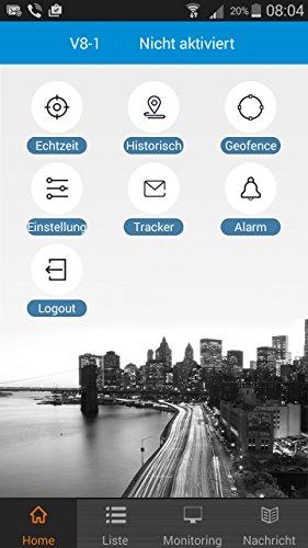 AmaxXon Mini GPS Tracker inkl. gratis Echtzeit Standortabfrage für Android/ iPhone App / Web mit integrierten Vibrationssensor/ Geräuschsensor und Mikrofon, Überwachung für Auto, Motorrad, Personen, Haustiere, Drohne, Quadcopter/ Quadrocopter usw.