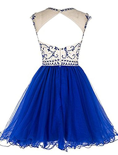 Vickyben Damen Kurz Perlen Tulle Abendkleider Ballkleid Brautjungfernkleid Party kleid kneelang Coral