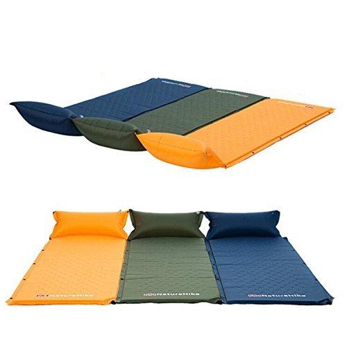 Naturehike Sleeping Pads, Cido Selbstaufblasende Camping Schlafsack, Quick Flow Valve, mit angeschlossenen aufblasbaren Kissen (Orange) (Kissen Valve)