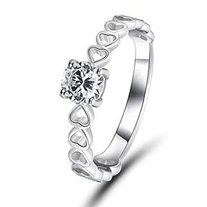 Benwangxintong Ring, herzförmig, Zirkonia, Jahrestag (Nicht 7 7)