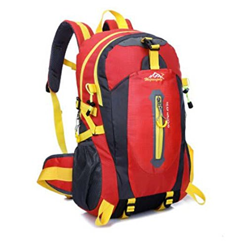 All'aperto alpinismo Borsa nylon impermeabile borsa tracolla casual zaino da viaggio , orange Red