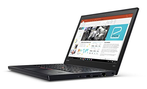 Lenovo ThinkPad X270 - 20HMS1GS00 - Intel Core i3-7100U Dual-Core 2.40 GHz, RAM 4 GB, 128 GB Solid State, Bluetooth 4.1, Camera, Fingerprint Reader, 6 Cell Battery, 12.5