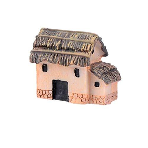 TDFGCR Mini Puppenhaus Steinhaus Cottage Harz Dekorationen für Heim und Garten DIY—Zufällig F