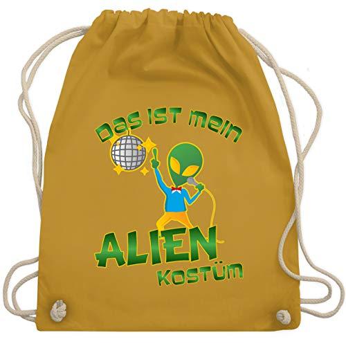 Karneval & Fasching - Das ist mein Alien Kostüm Disco - Unisize - Senfgelb - WM110 - Turnbeutel & Gym Bag (Frühjahrs Kostüm Alien)
