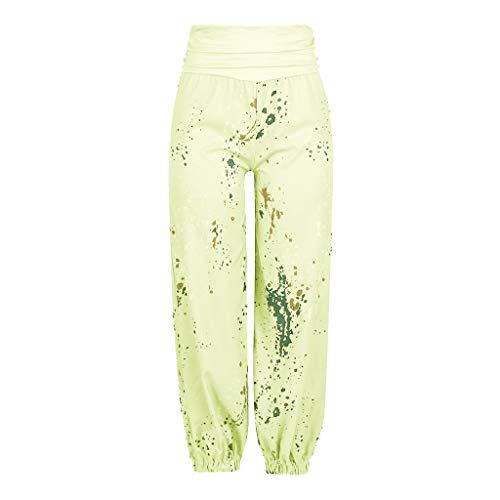 Momoxi Pantaloni Da Yoga Donna, Leggings Floreali Per Donna,Pantaloni Gamba Larga, Leggings L Primavera, Coulisse Floreali, Cotone Morbido E Comodo