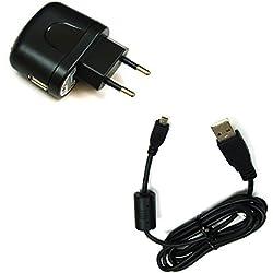 Chargeur Bg-akku24 - Avec câble USB de chargement et de transfert de données - Pour Nikon Coolpix A100, A300, P100, P300, P310, P330, P500, P510, P520, P530, S02, S32, S800c, S2500, S2600, S2700, S2800, S2900, S3000, S3100, S3200, S3300, S3400, S3500, S3600, S3700, S4000, S4100, S4150, S4200, S4300, S4400, S5100, S5200, S6200, S6300, S6500, S6600, S8000, S8200, S9200, S9300, S9400, S9500, UC-E6, UC-E16