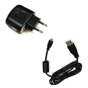 BG akku24del caricatore e cavo di ricarica, cavo dati, cavo USB per Power Flex 800, Flex Power 820, Sportsline 80, Compactline 103, Compactline 320, Compactline 390se, Compactline 750