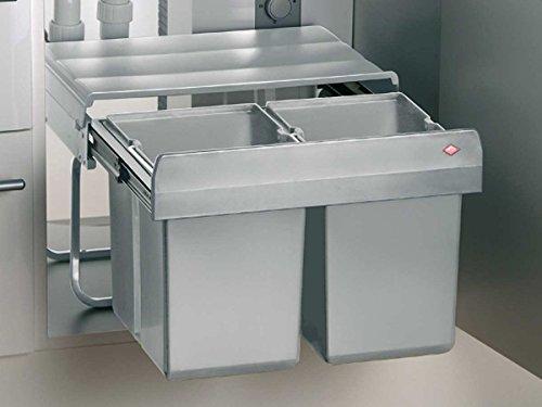 Wesco Double Shorty Einbau Abfallsammler Abfalltrennsystem Mülltrenner Eimer