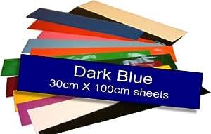 Easy Colour Film auto-adhésif en vinyle Bleu marine 30 x 100 cm