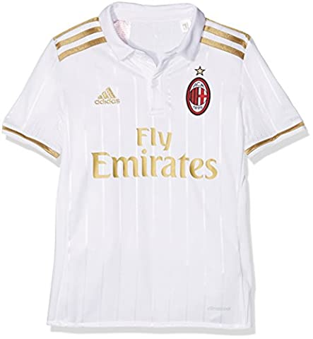 adidas Milan Ac Replica Extérieur Maillot Garçon, Blanc/Dark Football Gold, FR : 176 cm (Taille Fabricant : 176 cm)