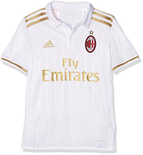 adidas Acm A Jsy Y 2ª Kit Ac Milan 2015/16 Maglietta, Bambino