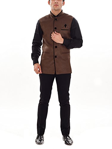Ellegent Exports Fusion Men's Blended Bandhgala Festive Nehru Jacket S Special Eid...