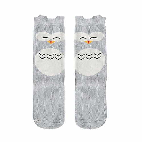 Socken Longra Baby Kinder Mädchen niedlich weicher Baumwolle Socken kniehohe Strümpfe In Tube Socken Kniestrümpfe(24cm-29cm, 0-6 Jahre) (S 0-1 Jahre, A)