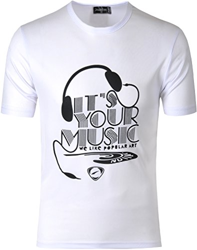 Jeansian Herren Sportswear Quick Dry Short Sleeve T-Shirt LSL182 LSL178_White