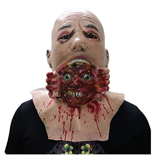 cht Zombie Horror Tongue Puppe Puppe Maske Halloween Spukhaus Requisiten Walking Corpse Stirnband ()