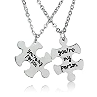 "Prodotto: Set di 2 collane Bespmosp con pendenti coordinati ""You Are My Person"", regalo per innamorati. -"
