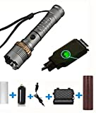 Adjustable Waterproof Tactical Flashlight Set, Rechargable Focus Led Torch light Set, Flashlight With Rechargeable battery18650 + Direct Charger + Box + AAA Battery Holder (Flashlight set)