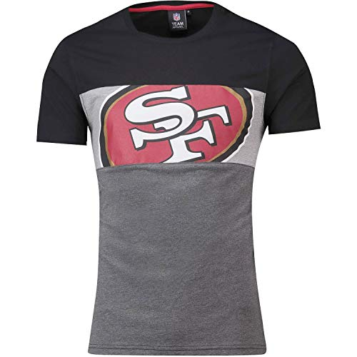 Fanatics San Francisco 49ers T Shirt Cut and Sew Black - L