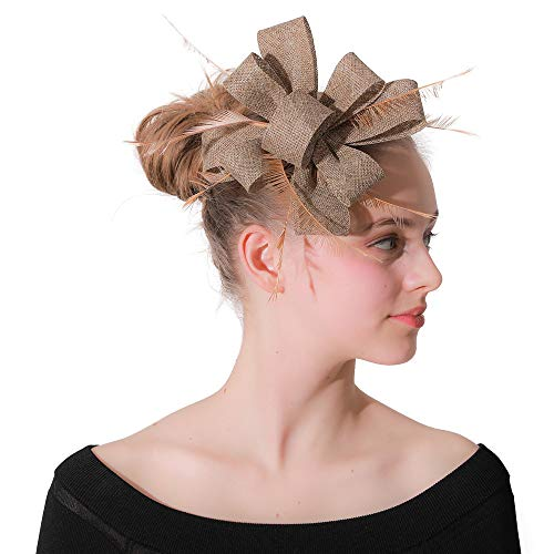 Eleganter Feder-Fascinator Derby-Hut mit Krokodilklemme für ()