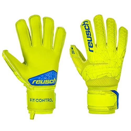 Reusch Herren Fit Control SG Extra Finger Support Torwarthandschuhe, Lime/Safety Yellow, 8.5