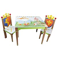Fantasy Fields - Collection Wooden Table and 2 Chairs Set | Imagination Inspiring  Hand Crafted & Hand Painted Details | Non-Toxic, Lead Free Water-based Paint