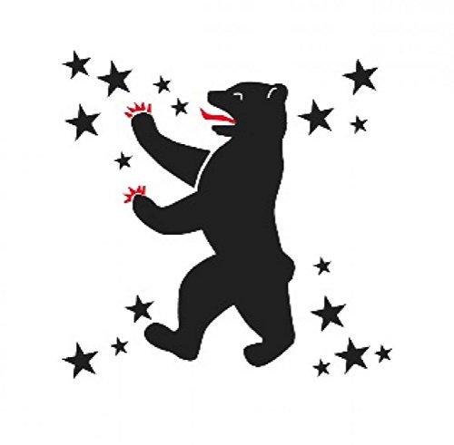Preisvergleich Produktbild Temporäres Klebe-Tatto: Berlin Tattoo,  verschiedene Motive (Berliner Bär)