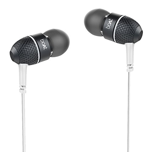 Boat Bass Heads 225 in-Ear Headphones with Mic (Frosty White)