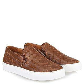 Abro Damen Geflochtene Slip-on Sneaker Braun, Größe 38
