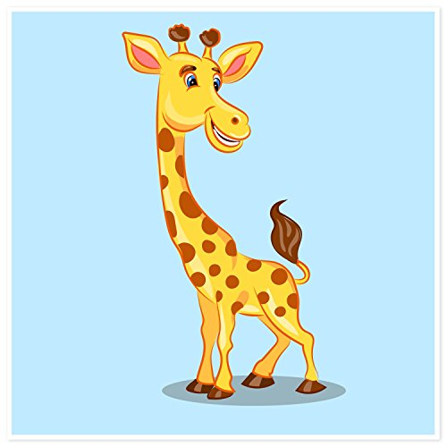 Topposter Kinderposter - Lustiges Giraffe (Poster in Gr. 40x40cm) (Jugend-giraffe)