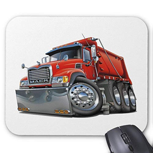 Mack Dump Truck Red Mouse Pad 7.08X8.66 inches/18X22 cm (Dump Truck Red)
