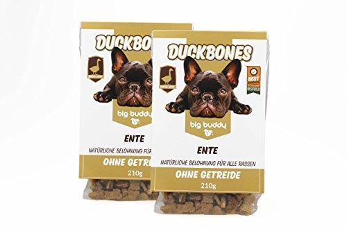 2x big buddy® Duckbones Leckerlies Hundekekse Hundefutter Hundesnack Glutenfrei TOP