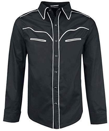 Banned Trim Hemd schwarz/weiß, Schwarz, XL -