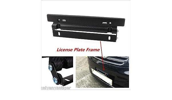 Universal Front Bumper License Plate Mount Bracket Relocator Holder Carbon Fiber