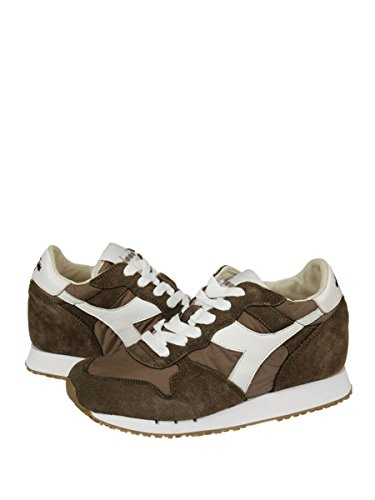 B7508 sneaker donna DIADORA HERITAGE TRIDENT verde scuro/marrone shoe woman Tortora/bianco