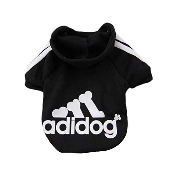 Scheppend Adidog Pet Dog Clothes Winter Coat Jacket Cat Puppy Hoodie Sweaters Cotton Clothing for Small & Medium & Large Dogs 1