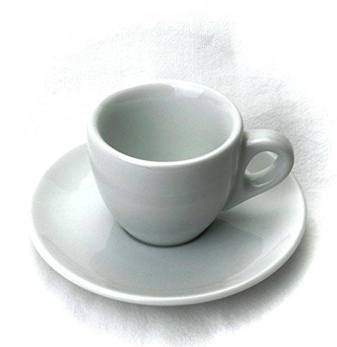 Extra dickwandige italienische Espressotasse »Verona« (0,85 cm Tassenwand / 75 ml), handgemacht (1 Tasse & Untertasse) / Made in Italy - 3