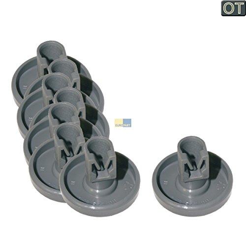 ORIGINAL Electrolux AEG 50286965004 Korbrolle Rolle Rad Geschirrkorb für Unterkorb 8 Stück Spülmaschine Geschirrspüler auch Juno Zanker Zanussi