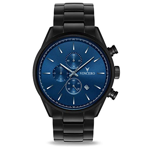 Vincero The Chrono S - Blue/Black Steel