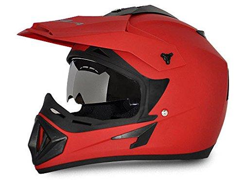 Vega Off OR-D/V-DR_L Road Full Face Helmet (Dull Red, L)