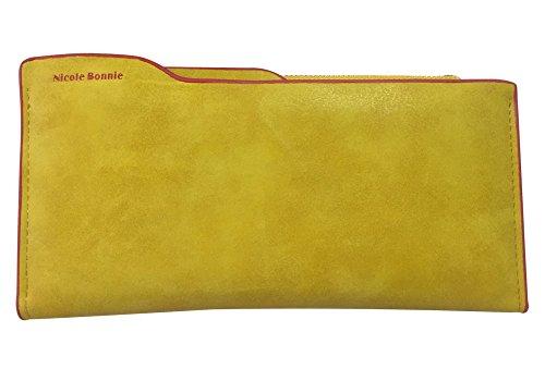 Minetom Donne Colore Della Caramella PU Leather Portafoglio Lungo Breve Porta Monete TitolareDellaCartaPochettePortafoglio Borsetta ( Verde 2 ) Verde 1