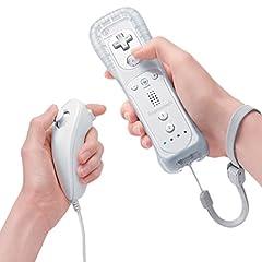 Idea Regalo - Expresstech @ Telecomando Motion Plus + Nunchuck Wii Remote con cinturino da polso & Custodia in silicone per Nintendo Wii NINTENDO WII U