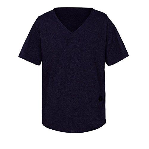 LeeY Herren T-Shirt Sweatshirt Rundhals Ausschnitt Kurzarm Einfarbig Top Shirt Crew Neck Vintage Sweatshirt Casual T-Shirt Oberteil Cool und Stylisch (Kurzarm & Slim Fit) (Marine, M)