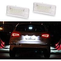 GOFORJUMP 2 Unids 12 V Blanco 18 LED Número Lámpara de la luz de la Placa de matrícula para A/UDI A3 S3 8P / 8PA A4 S4 B6 / B7 RS4 A5 ...