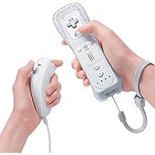 Expresstech @ Telecomando Motion Plus + Nunchuck Wii Remote con cinturino da polso & Custodia in silicone per Nintendo Wii NINTENDO WII U