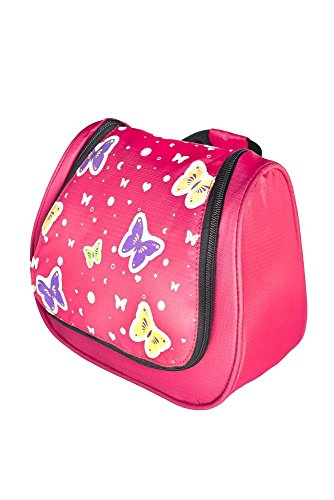Grüezi-Bag Kinder Kulturtasche Washbag Kids Butterfly, im Schmetterling Design, 20 x 20 x 6 cm