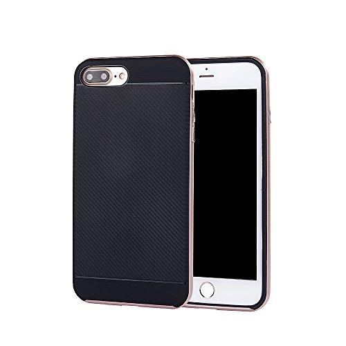 Case für Apple iPhone 7 Plus 5.5 Zoll Schutzcover aufstellbares Mobiltelefon Hardcase (Silber) Bronze